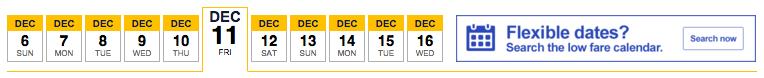 SW flexible dates