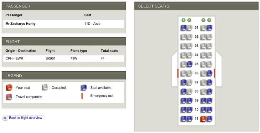 SAS 737 seat map.