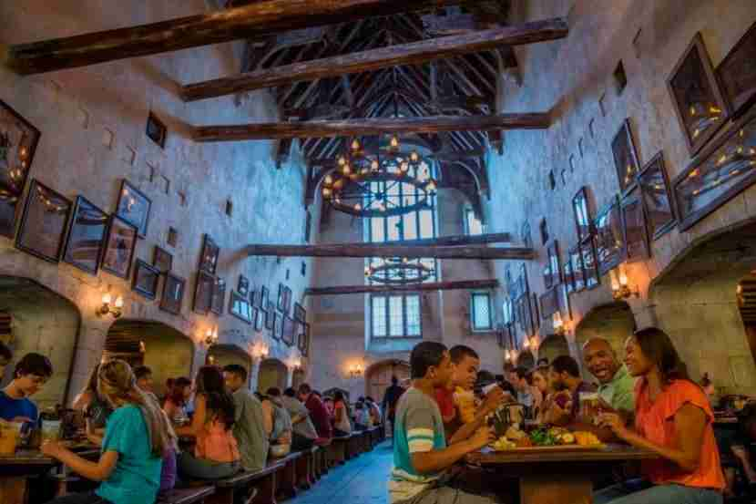 Guests can take a break at the Leaky Cauldron within Diagon Alley.