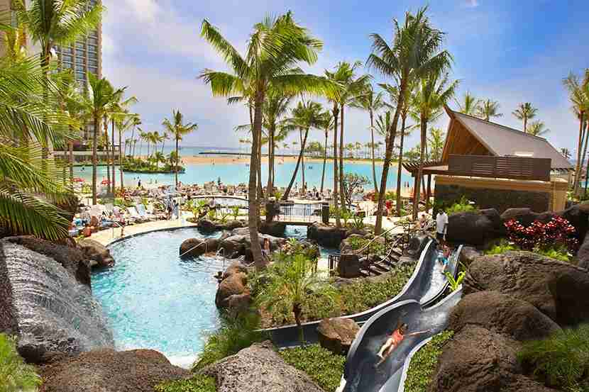 The pool at Hilton Hawaiian Village Waikiki Beach Resort