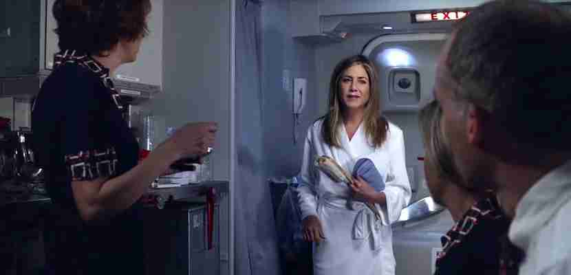 jennifer aniston emirates shower spa commercial