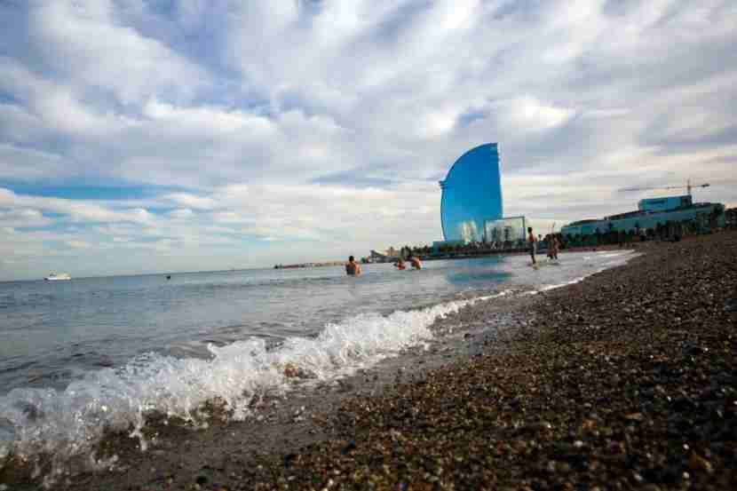 The W Barcelona is just steps from the water and features fantastic views of Barcelonetta and a rooftop pool.