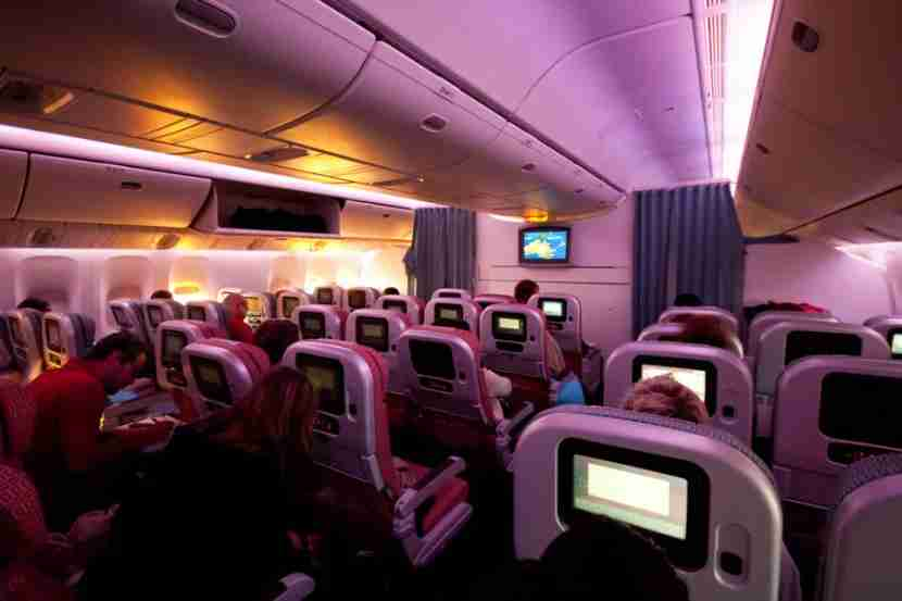 Some modern airline lighting systems include a huge array of colors. Photo courtesy of