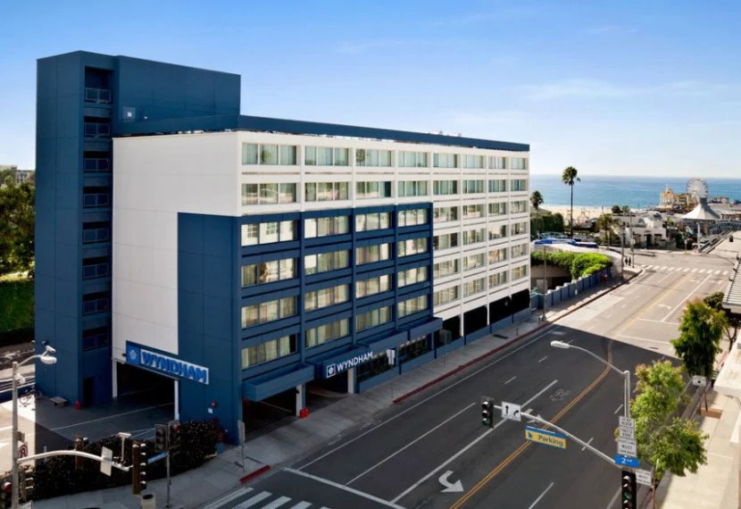 The Wyndham Santa Monica Pier is just across from the beach. (Photo courtesy Wyndham.)