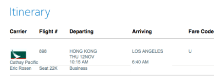 I changed my ticket just to fly from Hong Kong instead.