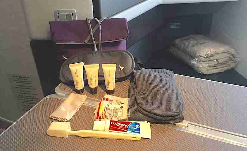 My amenity kit with Jurlique products.