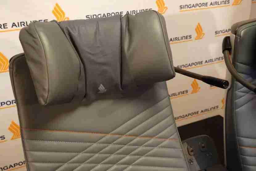 Premium economy headrest.