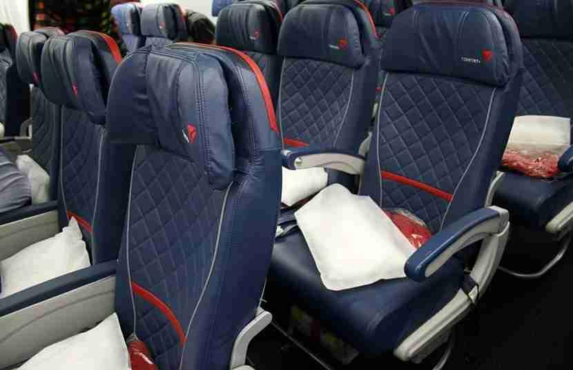 Delta Comfort+ seats.