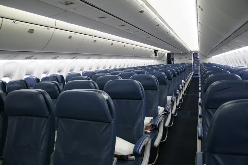 The Delta economy cabin.