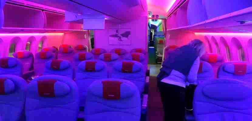 Airlines manipulate lighting to ensure you have a more comfortable flying experience.
