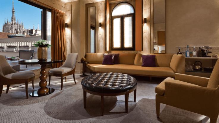 The Park Hyatt Terrace suite offers Duomo views.