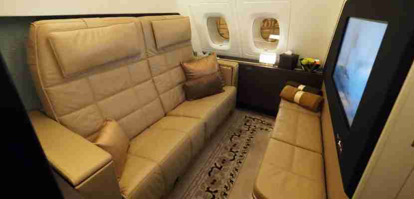The living room of the A380