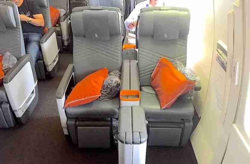 Bulkhead seats on the 777-300ER.
