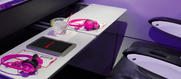 Virgin America allows streaming of Netflix through Ka-Band service. Photo courtesy of Virgin America.