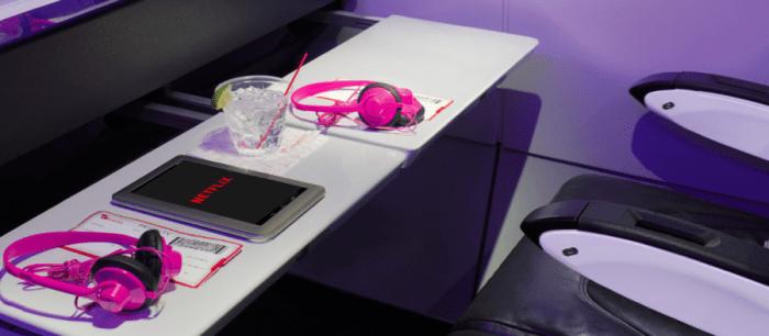 Virgin America allows streaming of Netflix through Ka-Band service. Photo courtesy of Virgin America.