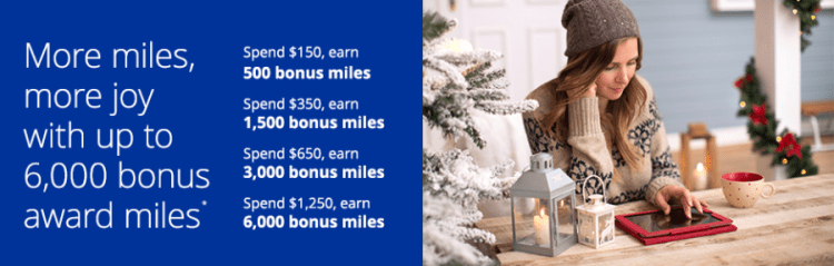 Earn even more miles when you spend a certain amount.