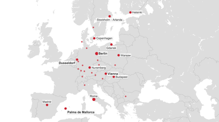 Some of the destinations covered by Air Berlin's sale.