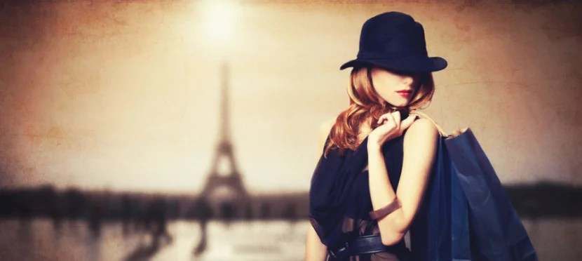 Even models know that shopping in Paris is awesome. Image courtesy of Shutterstock.