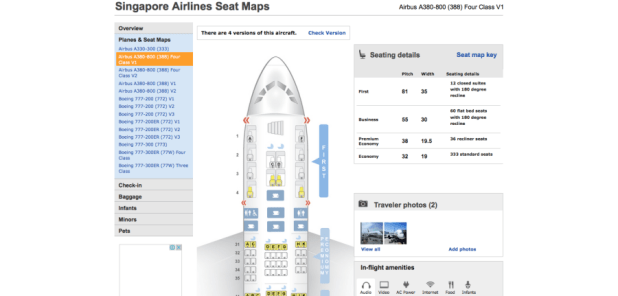 The Seat Map For 777 300er I Was On