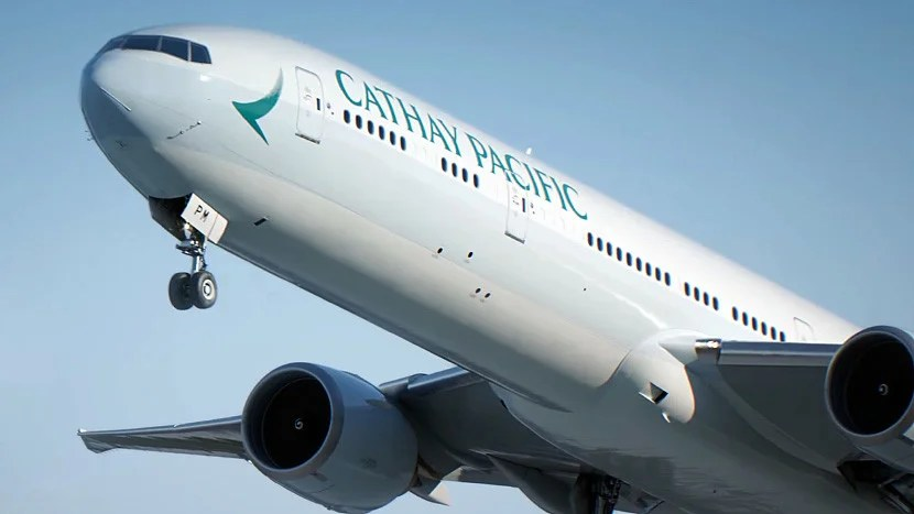 Cathay Pacific's new 777-300ER livery.