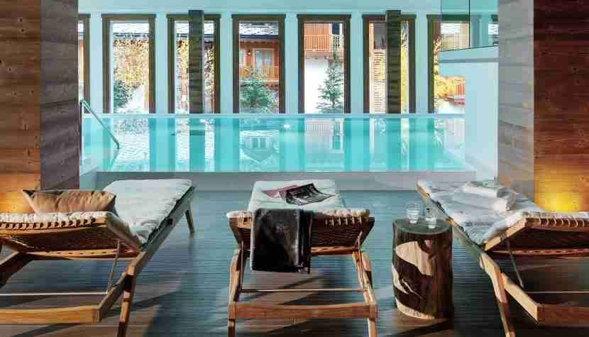 Pool at the Nira Montana in La Thuile, Italy, a Design Hotels property. Image courtesy of Design Hotels.