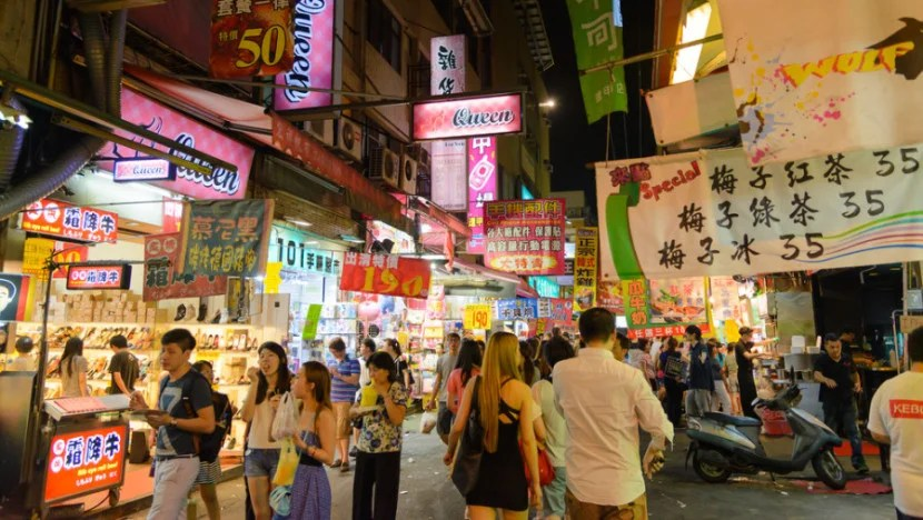 Stock up on Christmas gifts at one of the many Taipei night markets. Photo courtesy of Shutterstock.