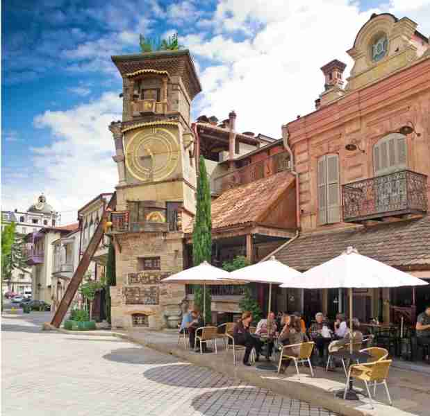 Café Gabriadze sits at the foot of Tbilisi
