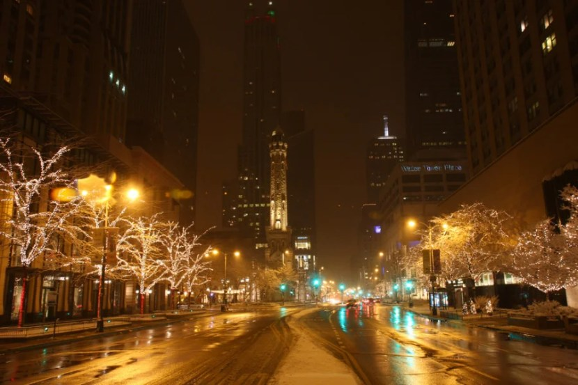 Chicago during the holidays is beautiful, just bundle up. Photo courtesy of Shutterstock.