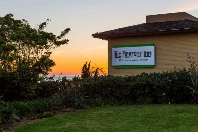 The Wyndham Garden Ventura Pierpont Inn in Southern California.