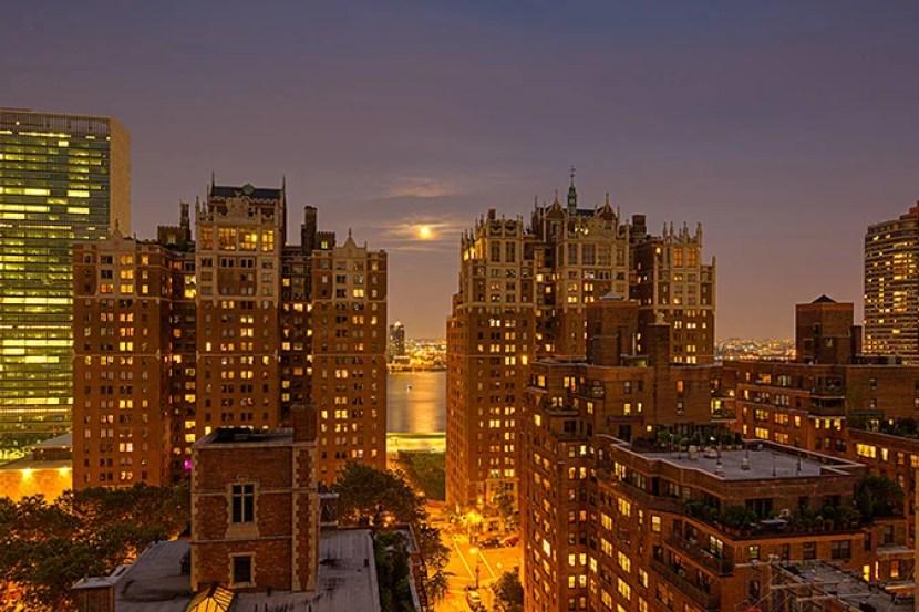 An exterior view of the Hilton Manhattan East.