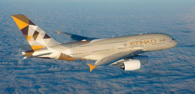 Etihad's mammoth A380. Photo courtesy of Airbus.