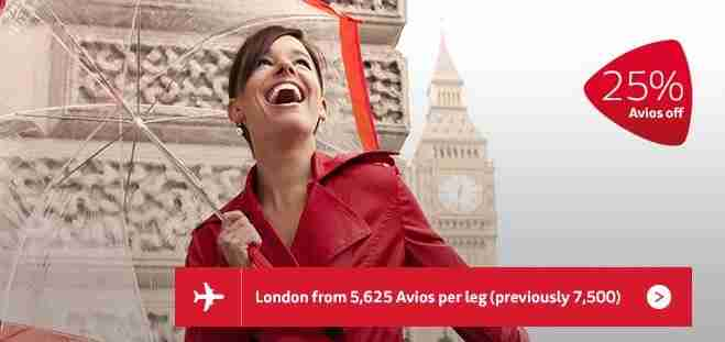 Get 25% select Avios redemptions for Iberia.