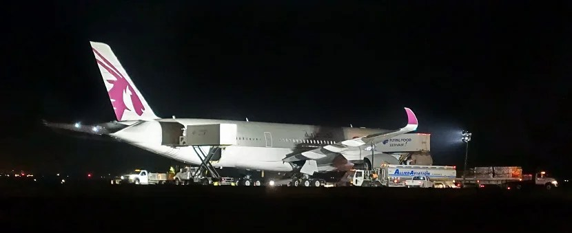 The A350 parked at JFK.