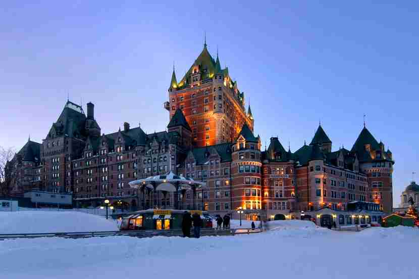 Use your gift cards toward a stay at the beautifulFairmont Le Château Frontenac in Québec City. Image courtesy of Fairmont.