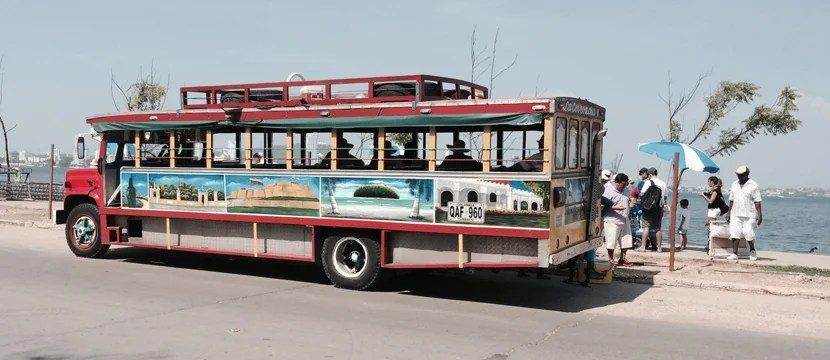 A chiva is a brightly painted bus that used to be Cartagena's most popular form of public transport, but is now used almost exclusively for city and nightlife tours.