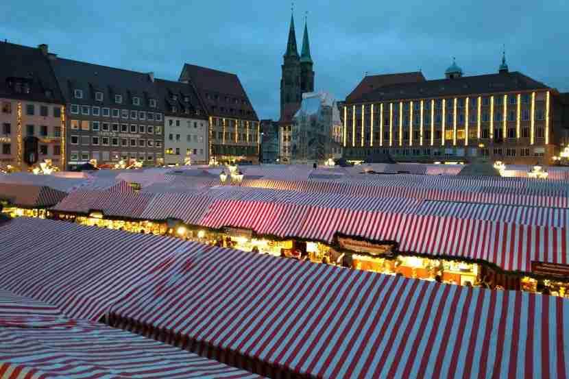A sea of stalls at Nuremberg