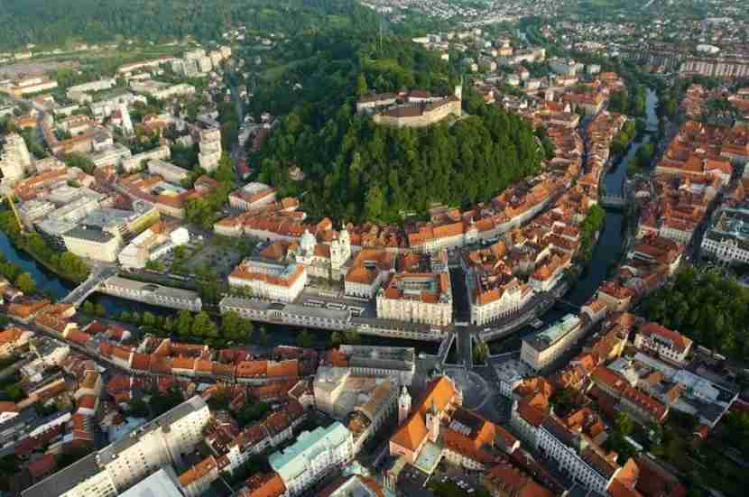 The red roofs of Slovenia