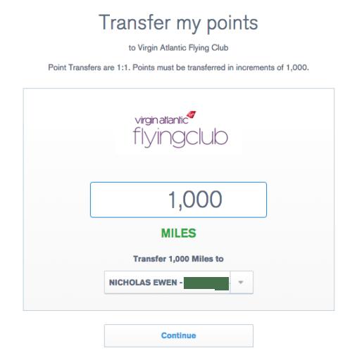 UR transfer to VS