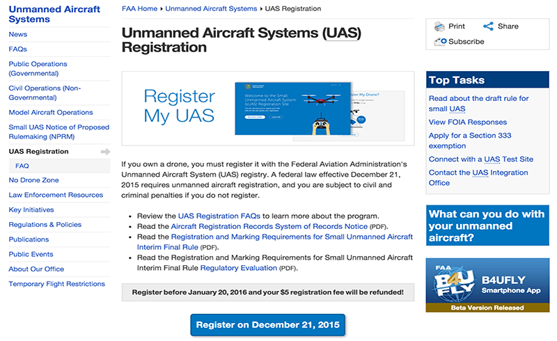 The FAA website where you