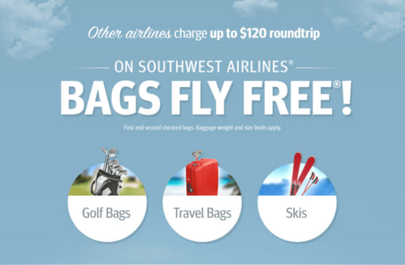Southwest no baggage fees