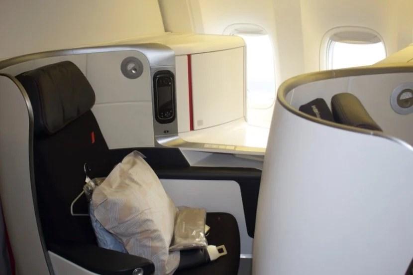 air france 777-300er business class window seat