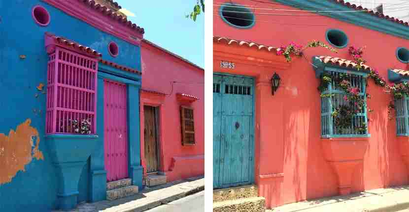 Within the walls of Old Town, Cartagena locals have some serious paint colors, and they aren