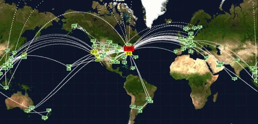 2015 Jet Lovers Stats: 170,371 Miles Flown Over 74 Flights
