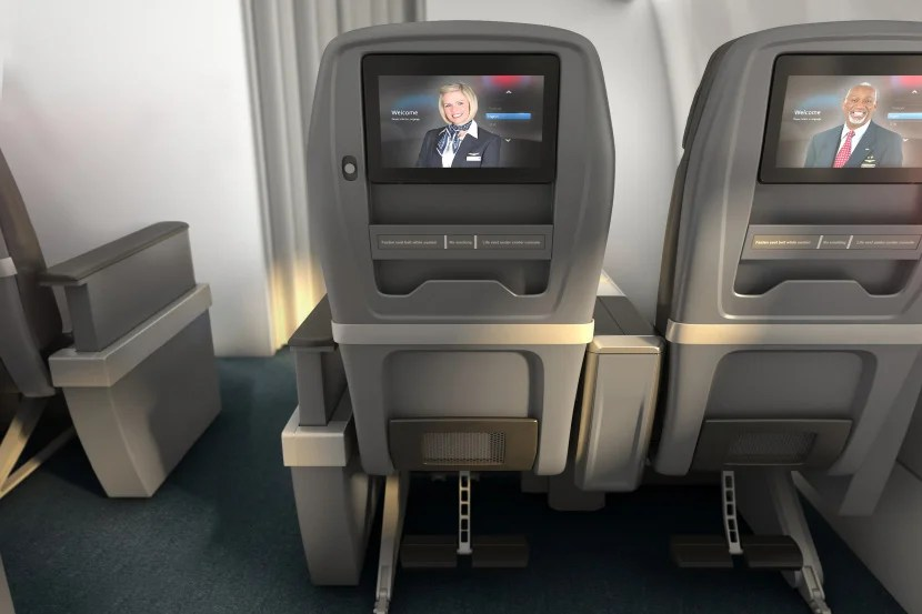 The view from AA's new premium economy seats.