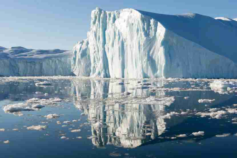 Float among the icebergs of Greenland