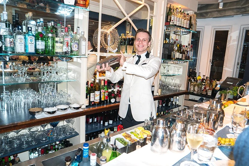 The barman at the American Bar. Image courtesy of Mitch Berman.