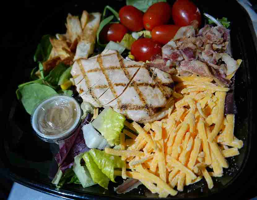 """A couple of tortilla strips were the only thing that put the """"Southwest"""" in this Salad."""