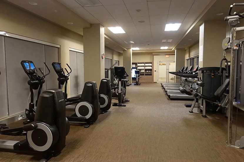The large gym at The Westin Austin Downtown.