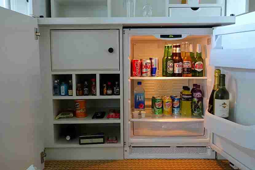 The well-stocked mini-bar.