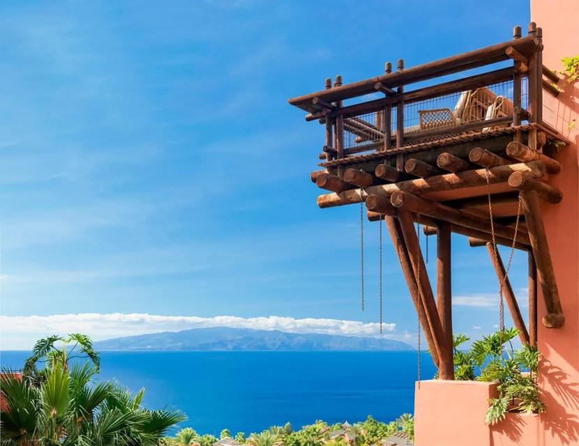 Catch views over the Guía de Isora coast from a room at The Ritz-Carlton, Abama in Tenerife. a